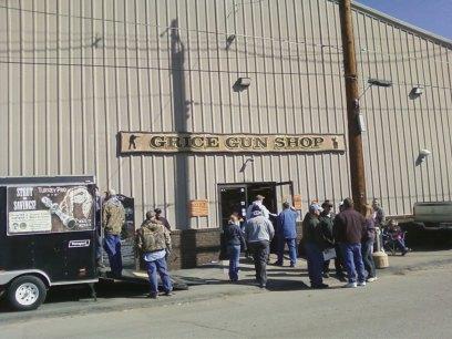 Grice's gun shop store front