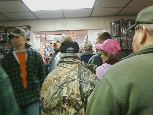 Crowds at the gun shops