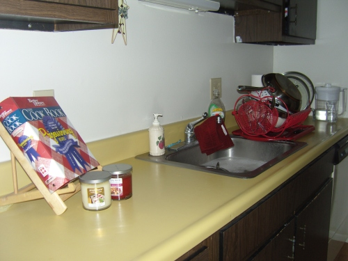 Cleaned up kitchen counter